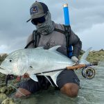 Afu with GT Giant trevally Maldives