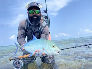 Afu with bluefin trevally